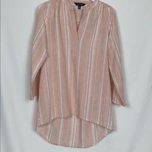 Ellen Tracy 100% linen tunic size Med. blush